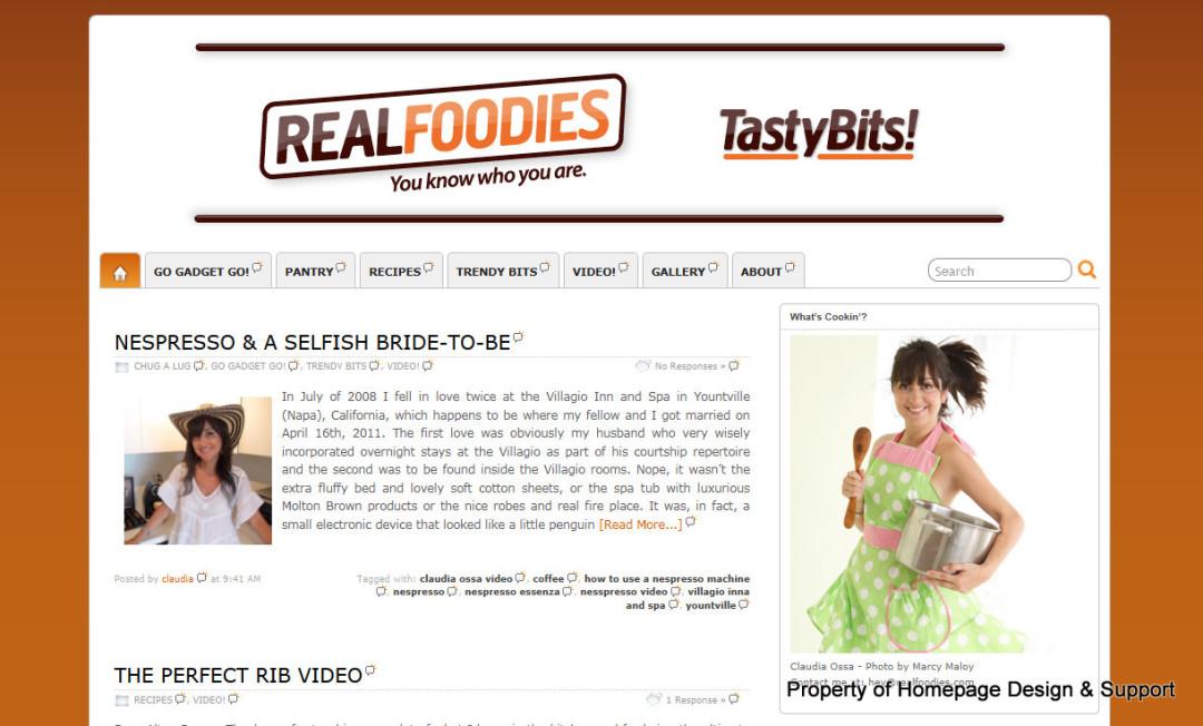 WordPress Customization for Tasty Bits Blog