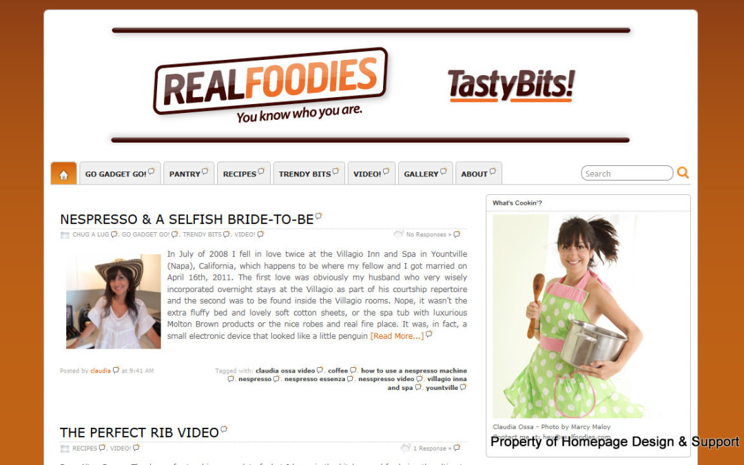 WordPress Customization for Tasty Bits Blog