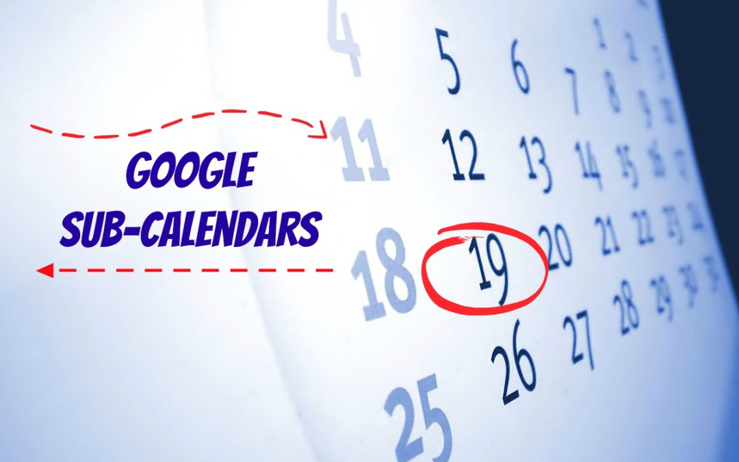 How to Create Sub-Calendars in Gmail (Google Calendar) and Set them up in WordPress Widgets